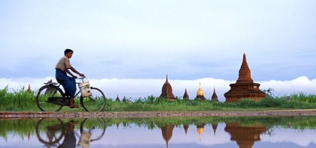 Myanmar - Visitar os templos de Bagan de Bicicleta