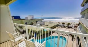 Vista do hotel em Pacific Beach / San Diego.