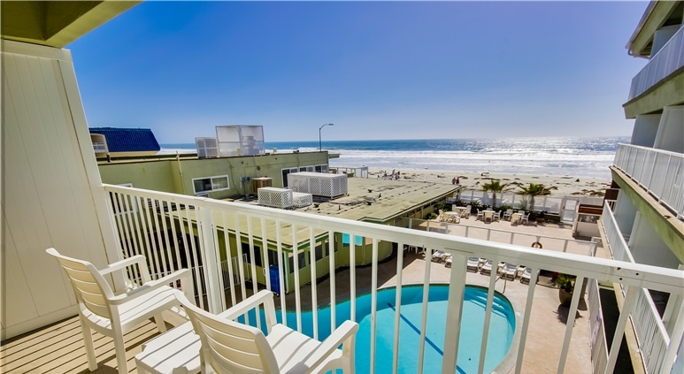 Vista do hotel em Pacific Beach / San Diego.