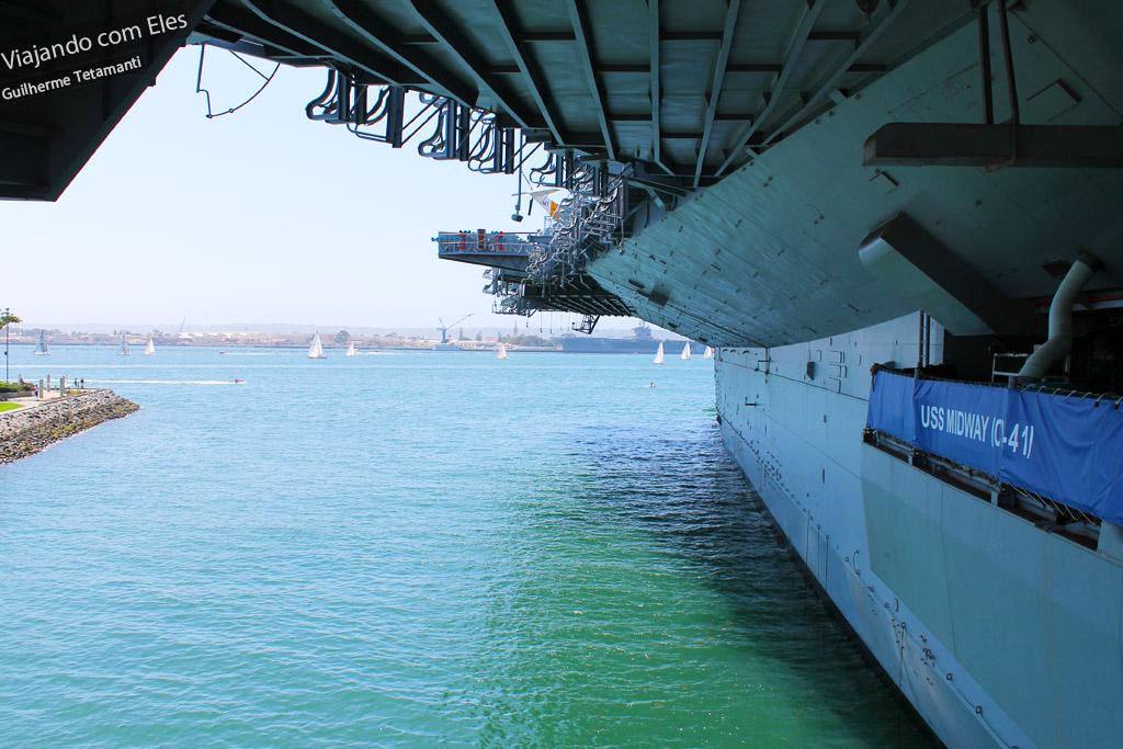 USS Midway Museum, um dos pontos turísticos de San Diego.