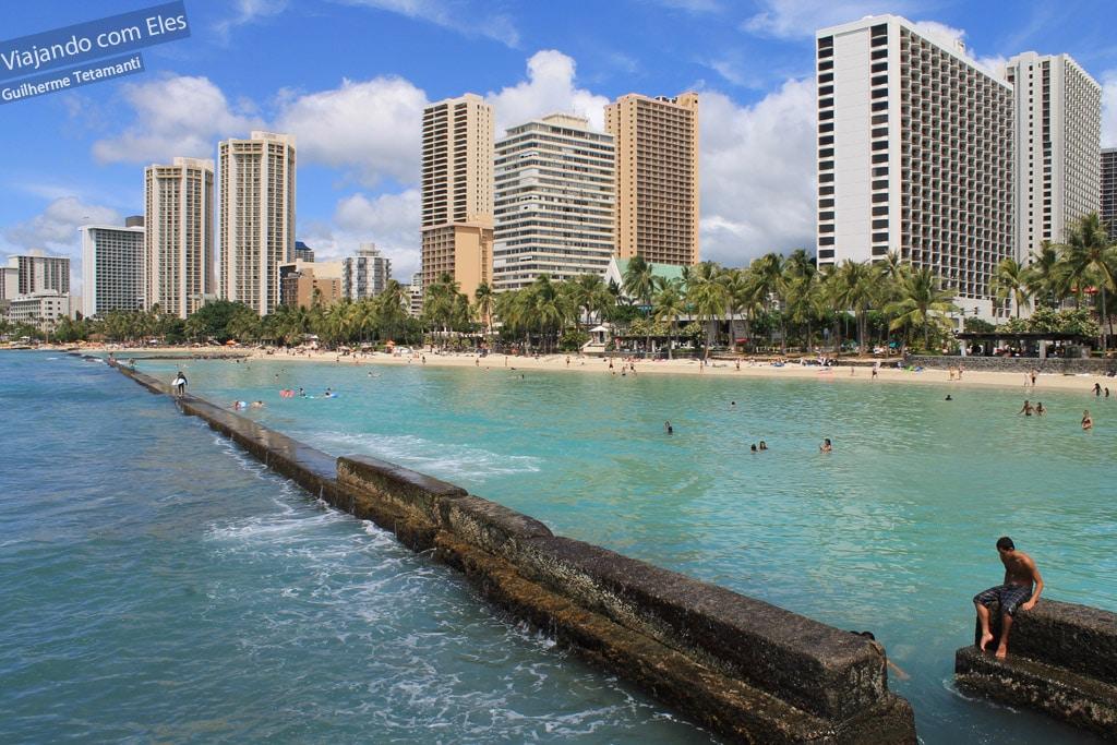 Hotéis na praia de Waikiki