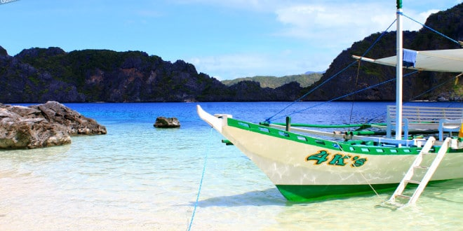 Viagem de barco nas Filipinas.