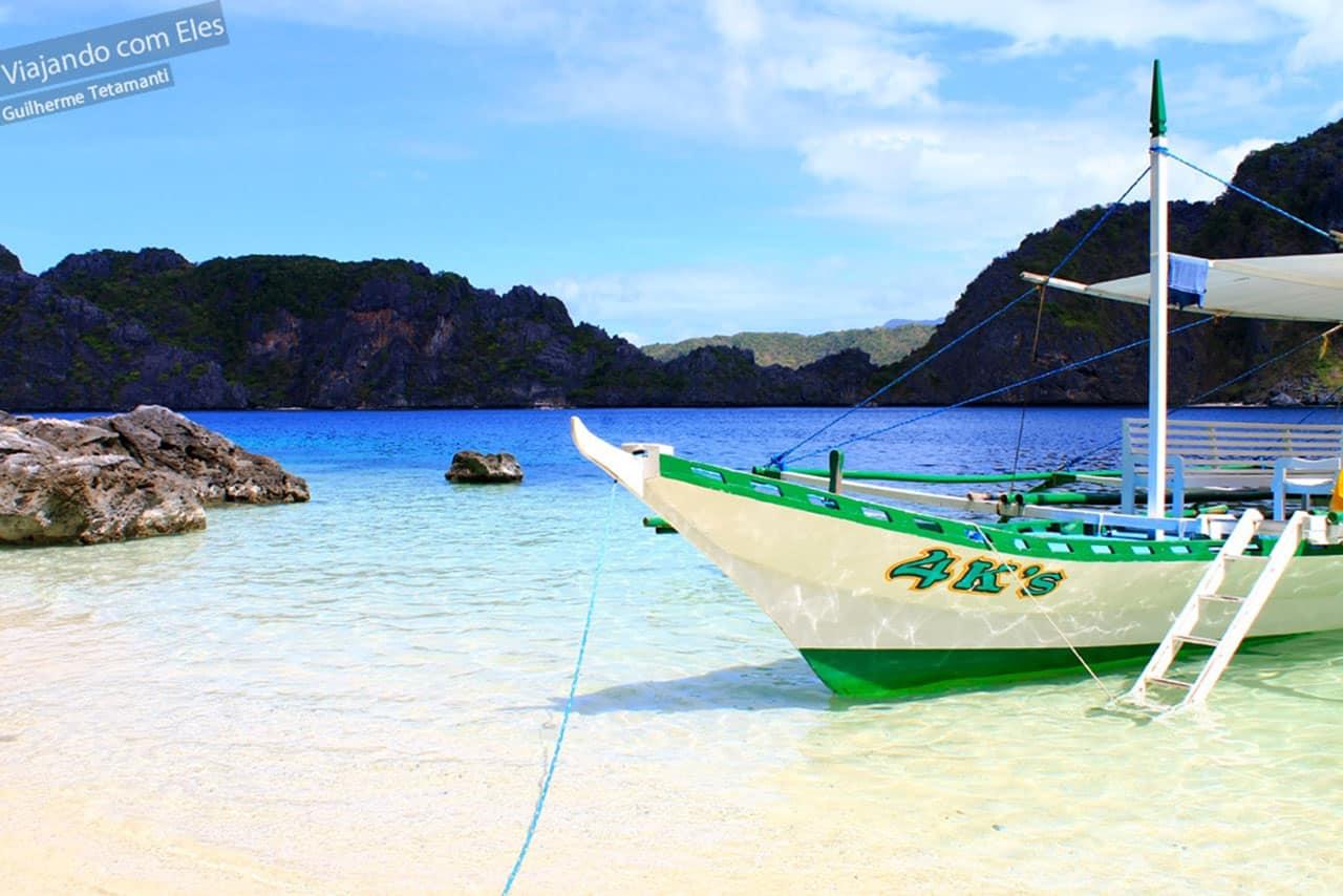Viagem de barco nas Filipinas