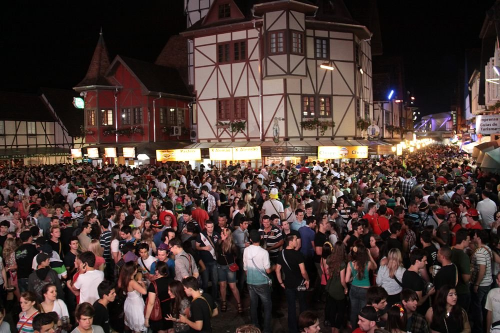 Vila Germânica durante a Oktoberfest