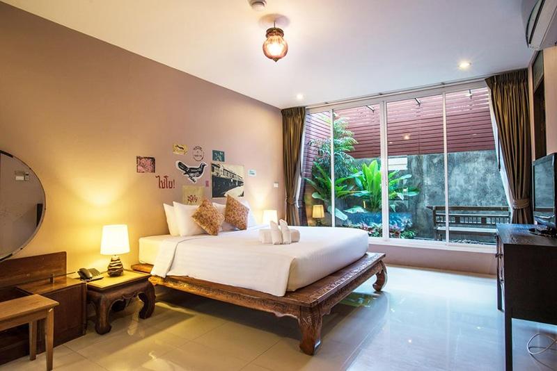 Hotel em uma rua tranquila de Bangkok