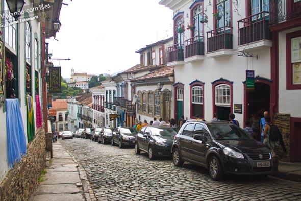 Uma das famosas ladeiras de Ouro Preto.