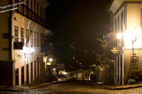 Vida noturna em Ouro Preto.