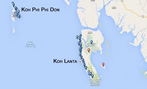 Melhores hotéis nas ilhas da Tailândia.
