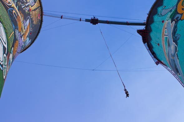 Bungy jump no Soweto.