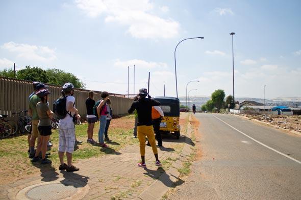 Início do passeio no Soweto.