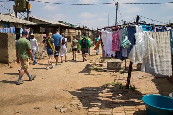 Bairro do Soweto em Joanesburgo.