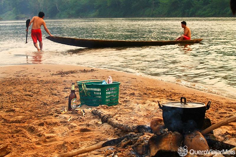 Agência de turismo no Laos