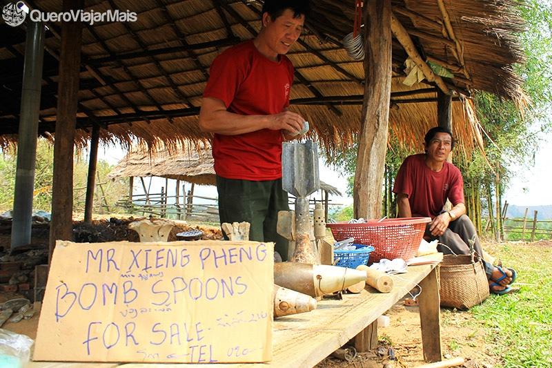 Pontos turísticos no Laos
