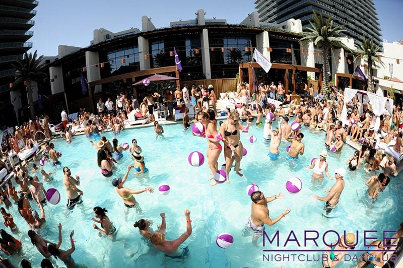 Festas e pool parties em Las Vegas