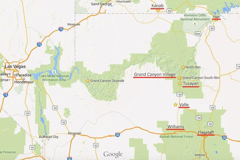 Onde ficar e hotéis próximos ao Grand Canyon