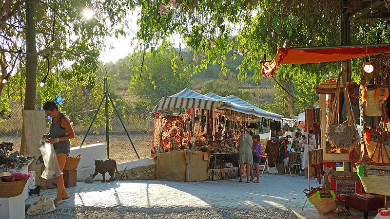 Mercado de rua de Las Dalias