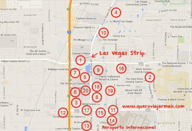 Hoteis em Las Vegas Onde Ficar em Las Vegas