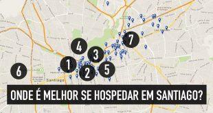 Onde é melhor se hospedar em Santiago