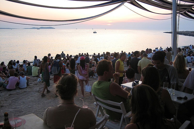 Pôr-do-sol em Ibiza