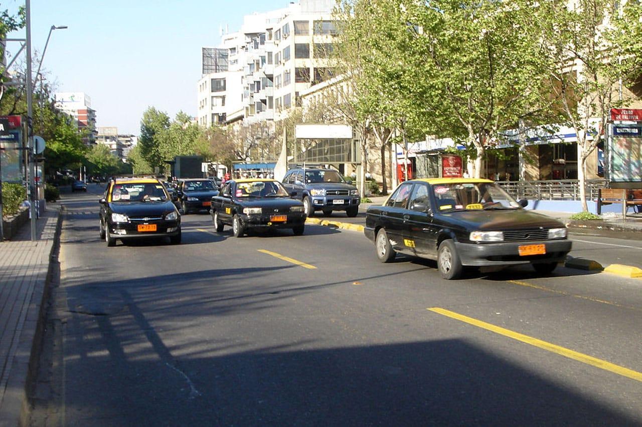 Taxis em Santiago