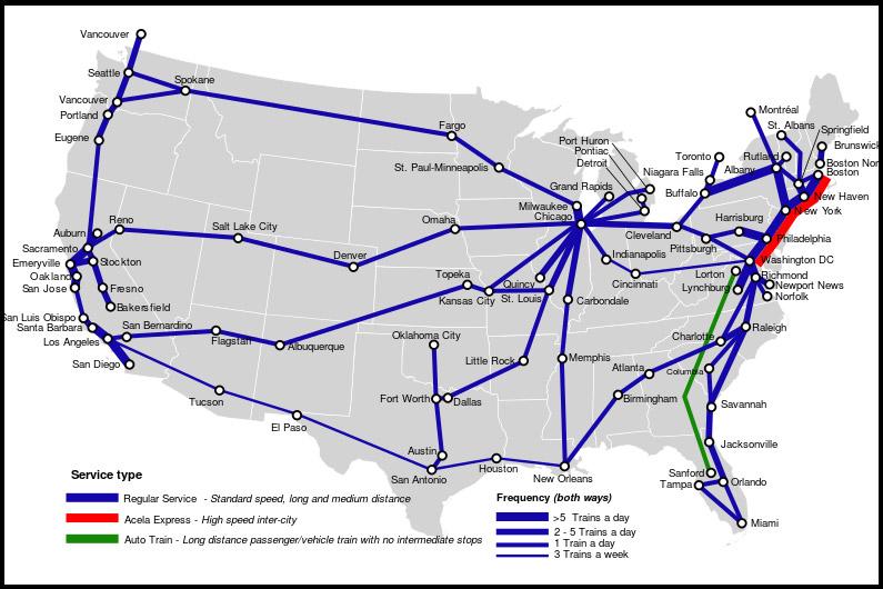 Dicas para viajar de trem nos EUA