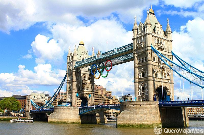 Tower Bridge, durante Olimpíadas de 2012.