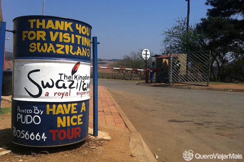 Fronteira entre África do Sul e Suazilândia.