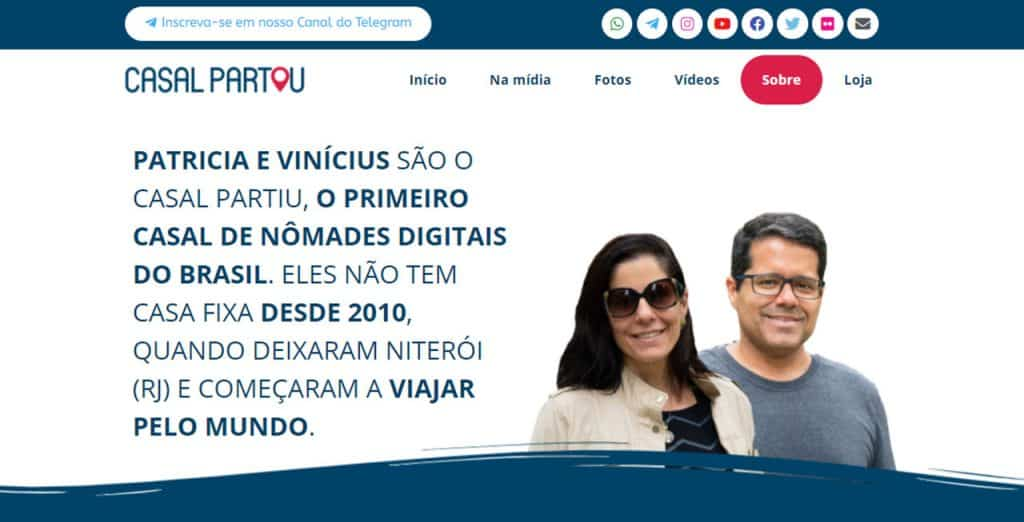 Casal Partiu nomades digitais brasileiros