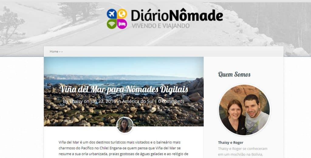 nomades digitais brasileiros Diário Nômade