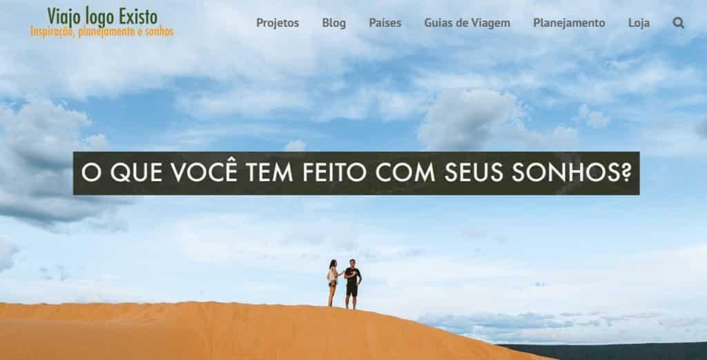 nomades digitais brasileiros Viajo Logo Existo