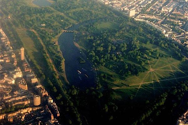 Hyde Park, o principal parque de Londres.