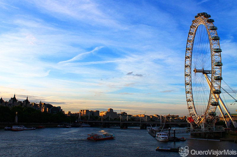 London Eye, às margens do Rio Tamisa.