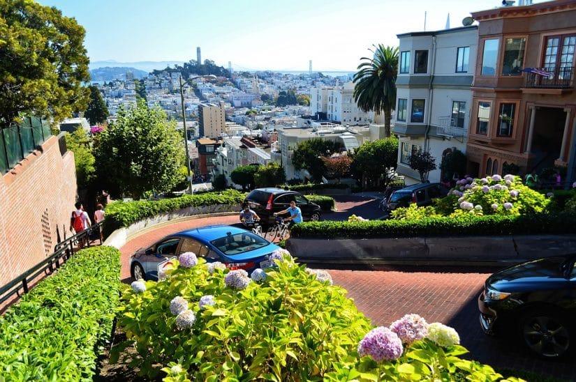 motorhome na Golden Gate