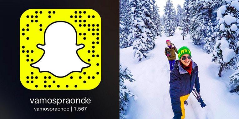 Snapchat perfis para seguir