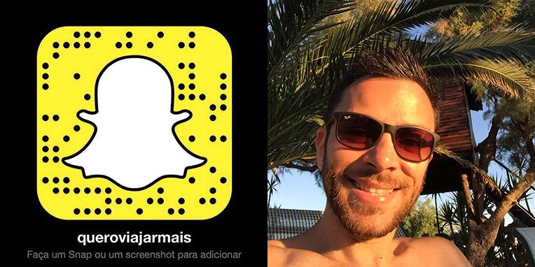 Snapchats de viajantes famosos