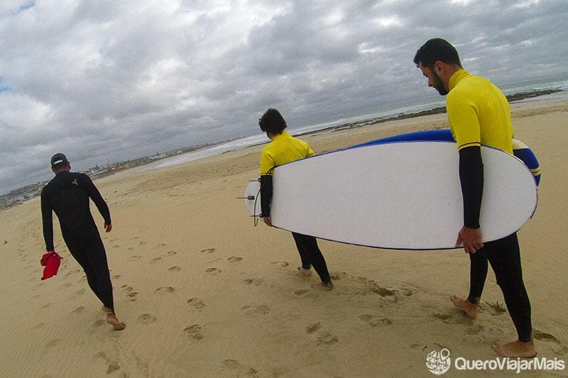 Aula de surf em Jeffreys Bay