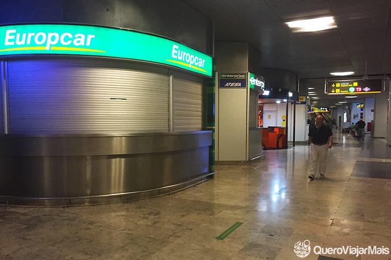 Locadoras de veículos no aeroporto de Madrid