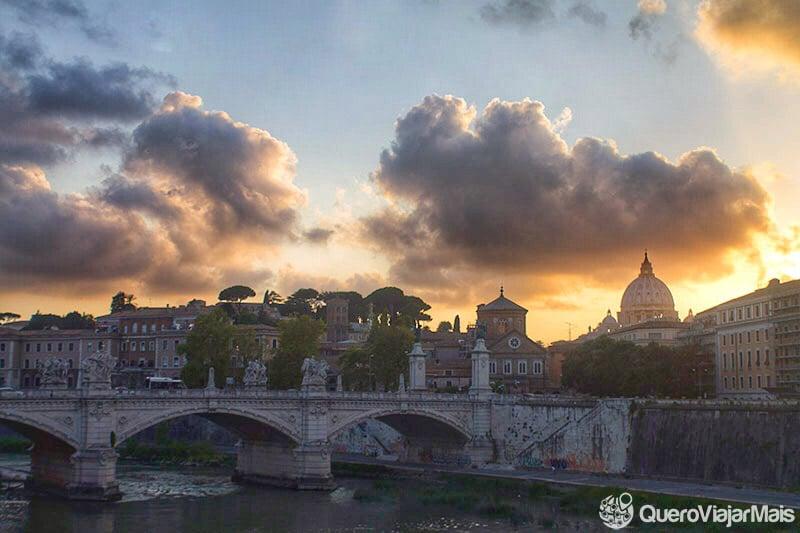 Lugares panorâmicos para ver o pôr do sol em Roma