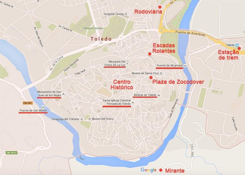 mapa de espanha toledo História, dicas, fotos e os pontos turísticos de Toledo, na  mapa de espanha toledo