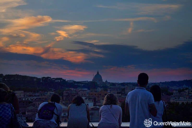 Vistas panorâmicas em Roma