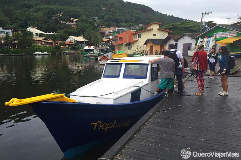 Tour de barco em Floripa