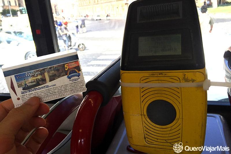 Transporte público barato na Itália
