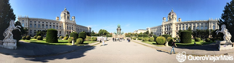 Mapa das melhores atrações de Viena