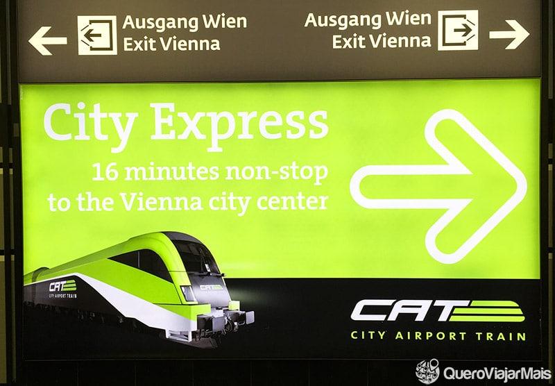 Transporte do aeroporto ao centro de Viena