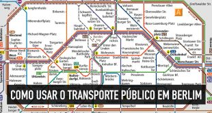 Mapa do transporte público e como se locomover em Berlim