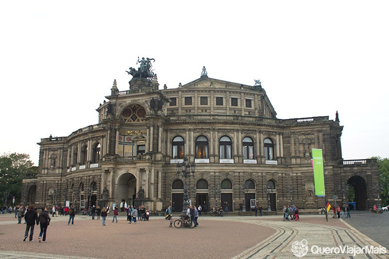 Pontos turísticos em Dresden, na Alemanha