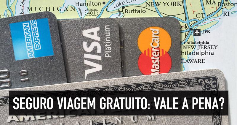 Seguro viagem gratuito do cartão de crédito