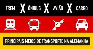 Os principais meios de transporte utilizados na Alemanha