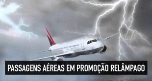 Passagens aéreas em promoção relâmpago