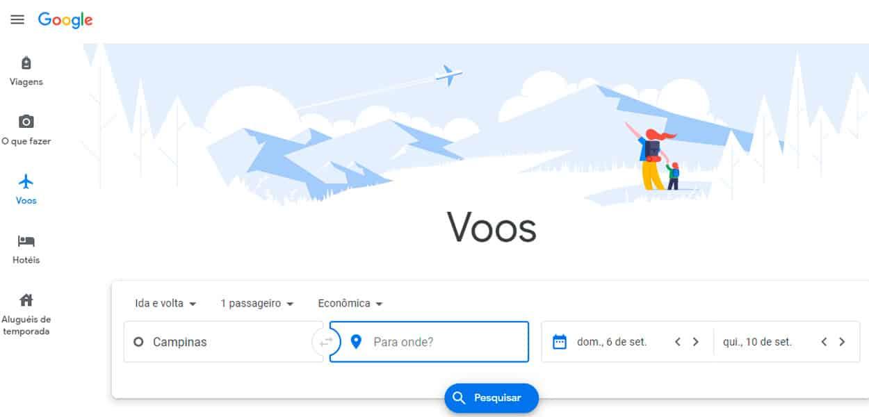 google glights voos